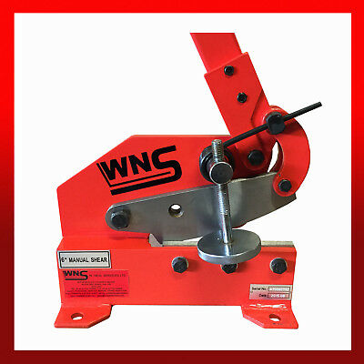 "WNS Metal Lever Cropper Cutter Shear Guillotine 150mm 6"" Blade Steel Flat Round"