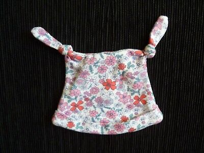 Baby clothes GIRL newborn 0-1m NEW! hat cotton white,pink,blue floral SEE SHOP!