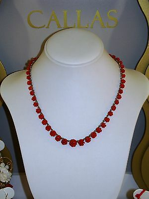 L'gold di Sciacca necklace / necklace ESSENCES coral / coral and/and gold / gold