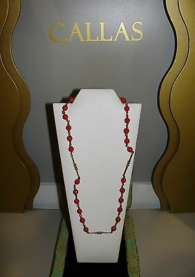 L'gold di Sciacca BARRELS necklace/necklace Jewel coral/coral and gold/gold