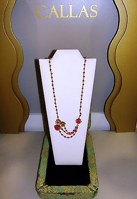 L'gold di Sciacca ALMOND necklace/necklace Jewel coral/coral and gold/gold