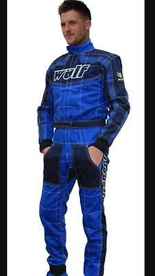 Wulfsport Blue and Black fireproof overalls ORCI Spec Oval racing,
