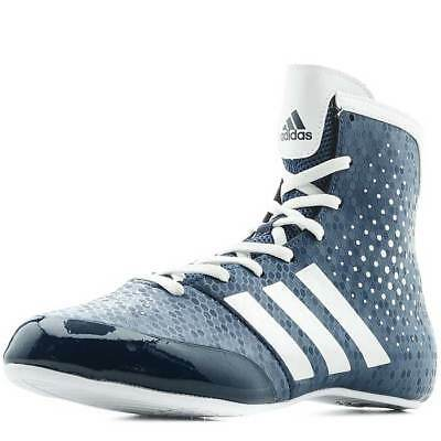 NEW Adidas Boxing Boots - KO LEGEND 16.2 Boxing Shoe Boot BLUE/WHITE Lightweight