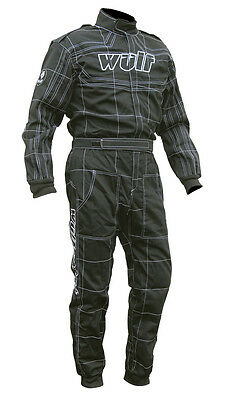 Wulfsport Black fireproof overalls ORCI Spec Oval racing,