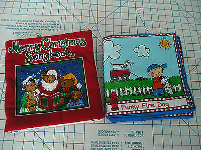 Fabric Books -  Helping Heroes and Merry Christmas Songbook - 2 books