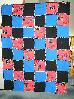 Spiderman Fabric Flannel Rag Blanket - Cozy & Warm for home, travel, daycare