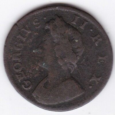 1733 George II Farthing***Collectors***Copper***