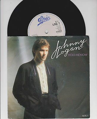 """JOHNNY LOGAN ~ Hold me now - 7""""  1987"""