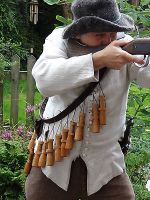 Thirty Years War 17th Century Replica Bandolier for museums and reenactment.
