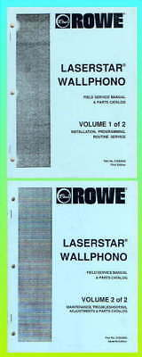 Rowe LaserStar WallPhono Service & Parts Manuals