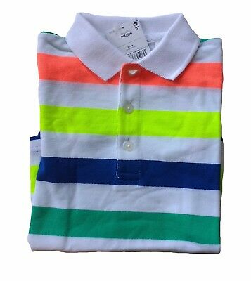 NEW Next Baby Boys Bright Stripe Polo Top Age 12 18 24 Months Colourful T Shirt