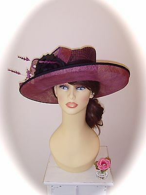 SALE Mother of Bride Ascot Occasion Wedding Ispirato Hat, Pink Orchid