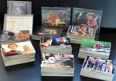 600+ Star Trek: Voyager Series I & II Trading Cards Massive Bundle Job Lot -1995