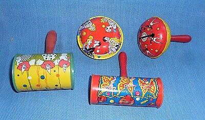 Group of 4 Vintage Metal Noise Makers