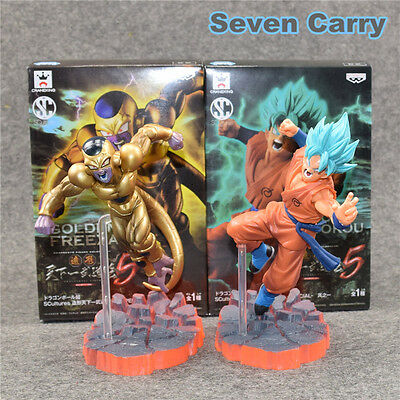2PCS/lot 15cm Dragon Ball Freezer VS Goku Z Resurrection F Super Saiyan Freeship