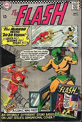 """The Flash # 161-1966-""""mirror With 20-20 Vision! It Sees All!knows All!tells All!"""