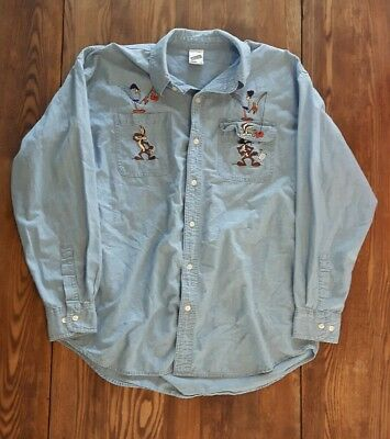 Loonie Toons Jean Shirt Size Large Vintage Warner Bros Collectable