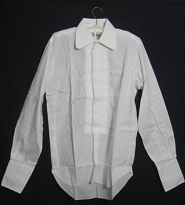 "VINTAGE AFTER SIX LE ROI DRESS SHIRT 1970s LARGE COLLAR 15"" COLLAR (921)"
