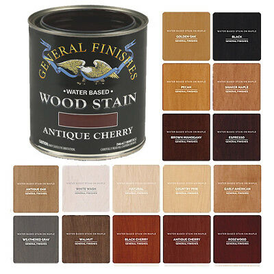 General Finishes Water-Based Semi-Gel Wiping Wood Stain, 17 Colors (Pint, Quart)