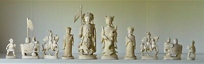 """Quality Chinese export 19th Century chess set   K=105mm (4.2"""")"""