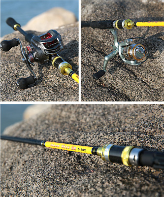 2.1M Lure Fishing Rod and Spinning Reel Combo Portable Double  Rod & Reel