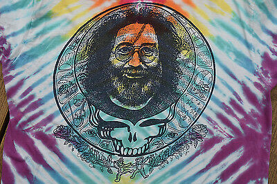 Vintage Grateful Dead Jerry Garcia Sun Splash Mandala Tie-Dye T-shirt Men's XL