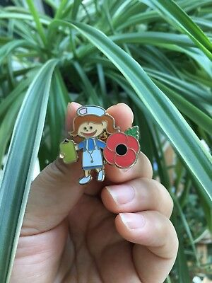 NHS poppy pin badge nurse physio porter carer doctor