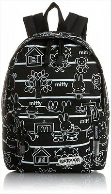 NEW OUTDOOR PRODUCTS & Miffy Daypack Backpack Happy Stripes S Black Japan F/S