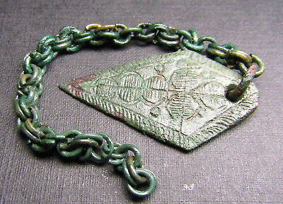 Ancient  Bronze Viking Chain Decoration. AMULET.
