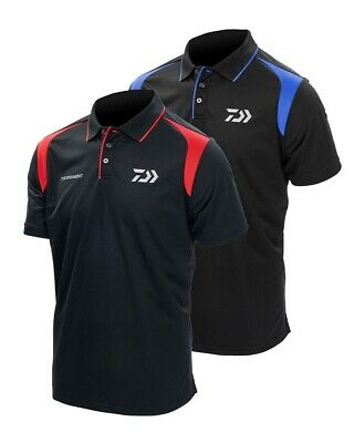 Daiwa Polo shirts Black/white,Black/Red and Black/Blue New for 2018 All sizes