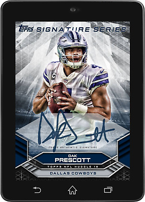 Topps HUDDLE Dak Prescott SIGNATURE SERIES Marathon Week 5 LIMITED Digital Card