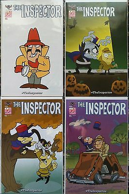 Inspector Pink Files #1 Set Of 4 Covers 1:3 Incentive Nm 1St Print Panther 2016