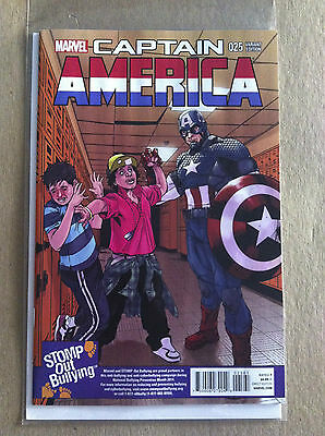 Captain America Vol. 7 #25 'stomp Out Bullying' 1:15 Variant Cover Falcon Nm