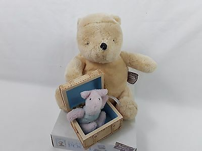 "Disney Golden Bear Toys Classic 7"" Winnie The Pooh And Piglet Plush Soft Toy"