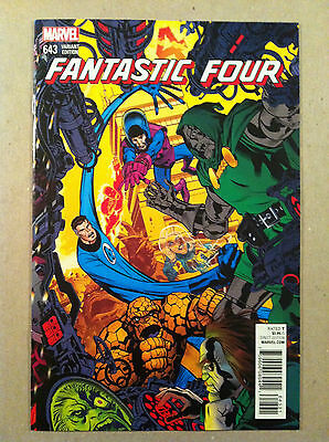 """Fantastic Four #643 """"connecting"""" Variant Michael Golden Near Mint First Printing"""