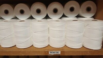 Rug Warp - Lot of 24 spools - 8/4 (100%) Cotton - Color White