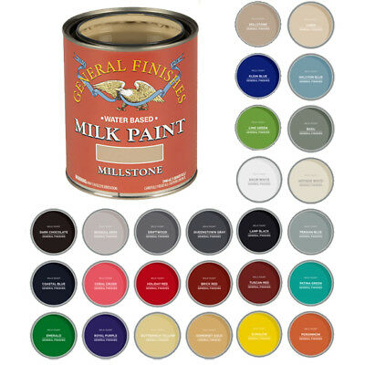 General Finishes Water-Based Interior or Exterior Milk Paint, PINT (26 Colors)