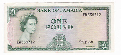 Bank Of Jamaica 1960 1 Pound Banknote [Extremely Fine Condition] [F/ship]