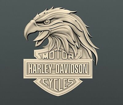 3d STL models for CNC, Artcam, Aspire, relief harley davidson