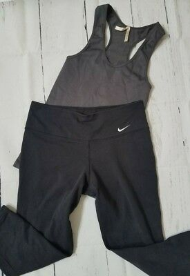 Nike Women's Dry Dry-FIT Cotton Capri Leggings  size Small & small workout top