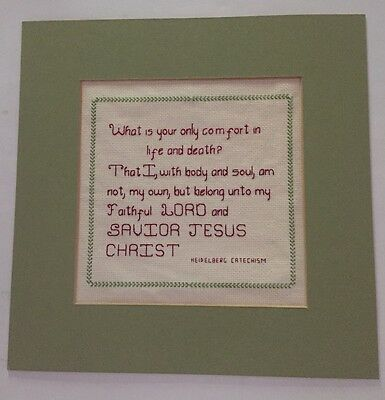 Sampler Comfort in Life Lord Savior Jesus religion vintage embroidery