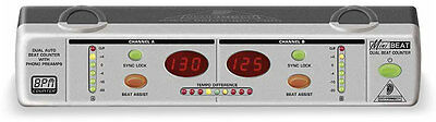 Behringer BEAT800 Dual Beat Counter with Integrated Phono Preamps - NEW!
