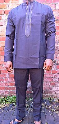 Stunning Traditional African Men's Senator Style Wear - size LARGE