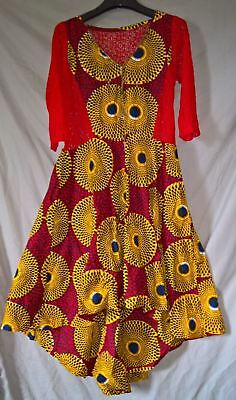 Stunning Traditional African Hitarget Dress with Lace - size XL