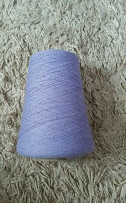 Approx 320g of 2/24's yarn in lavender. See description and photos
