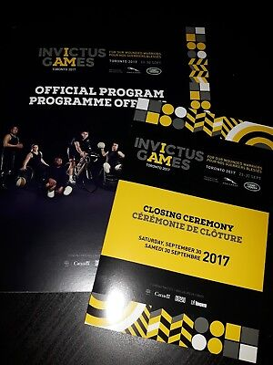 2017 Invictus Games Official Program TORONTO and closing ceremony booklet