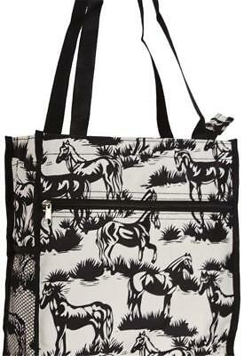 Off-White/Black Horse Print Tote Bag New With Tags In Package