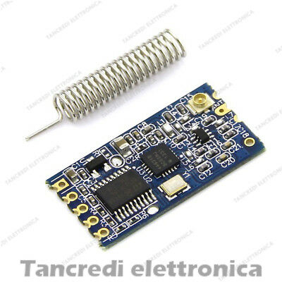 Modulo Wireless HC-12 433Mhz 1000m 1Km trasmettitore Arduino SI4463 Serial Port