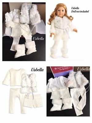 American Girl Winter White Outfit Set for Doll Truly Me New In Box Christmas