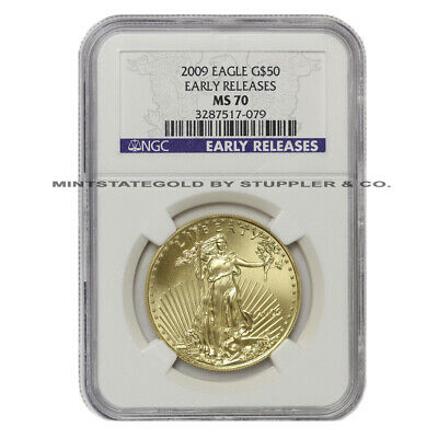 2009 $50 Eagle NGC MS70 Early Release American Gold Bullion Coin 1-oz 22-Karat